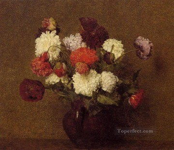 Flowers Poppies flower painter Henri Fantin Latour Oil Paintings