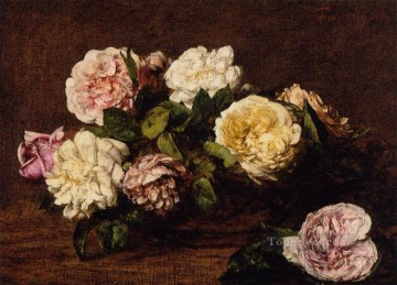 Flowers Roses flower painter Henri Fantin Latour Oil Paintings