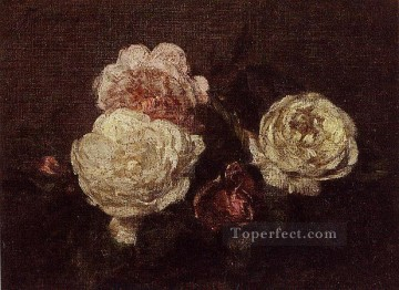Flowers Roses2 flower painter Henri Fantin Latour Oil Paintings