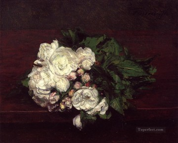 Flowers White Roses flower painter Henri Fantin Latour Oil Paintings