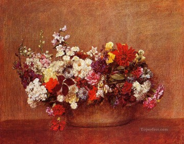 Flowers in a Bowl Henri Fantin Latour Oil Paintings