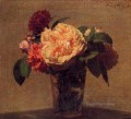 Flowers in a Vase flower painter Henri Fantin Latour
