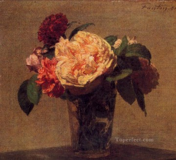Flowers in a Vase flower painter Henri Fantin Latour Oil Paintings