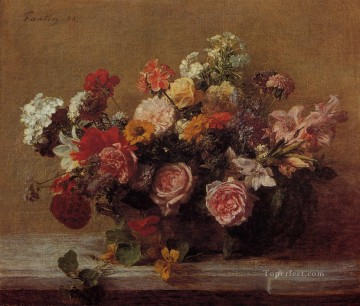 Flowers3 flower painter Henri Fantin Latour Oil Paintings