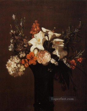 Flowers6 flower painter Henri Fantin Latour Oil Paintings
