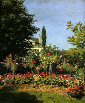 flower flowers floral Painting - Garden in Flower Claude Monet Impressionism Flowers