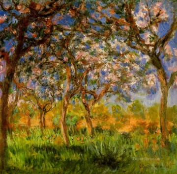 Giverny in Springtime Claude Monet Impressionism Flowers Oil Paintings