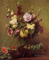 Holly hocks flower painter Henri Fantin Latour