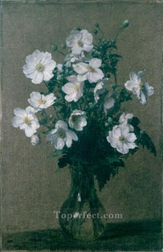 Japanese Anemones flower painter Henri Fantin Latour Oil Paintings