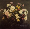 Large Bouquet of Crysanthemums2 flower painter Henri Fantin Latour