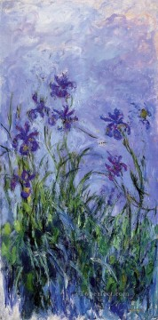 Flowers Painting - Lilac Irises Claude Monet Impressionism Flowers