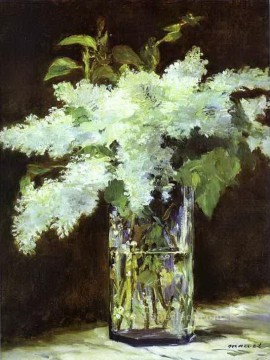 glass Painting - Lilac in a glass Eduard Manet Impressionism Flowers