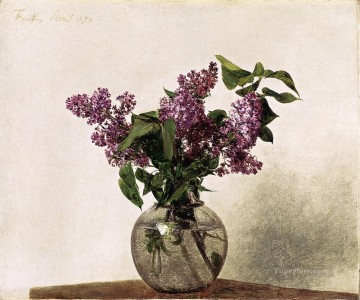 Lilacs flower painter Henri Fantin Latour Oil Paintings