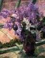 Lilacs in a Window impressionism flower Mary Cassatt