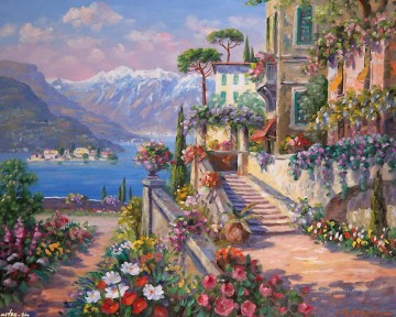 Mediterranean 16 Impressionism Flowers Oil Paintings