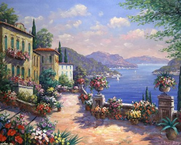 Mediterranean 17 Impressionism Flowers Oil Paintings