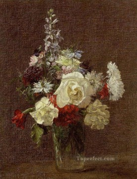 Mixed Flowers flower painter Henri Fantin Latour Oil Paintings