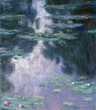 Impressionism Flowers Painting - Monet Water lilies Monet Impressionism Flowers