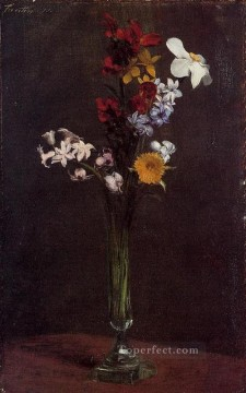 Narcisses Hyacinths and Nasturtiums flower painter Henri Fantin Latour Oil Paintings