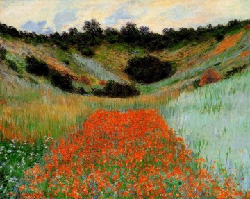 Impressionism Flowers Painting - Poppy Field at Giverny II Claude Monet Impressionism Flowers