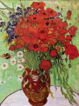 Red Poppies and Daisies Vincent van Gogh Impressionism Flowers Oil Paintings