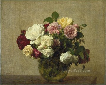 Roses 1885 flower painter Henri Fantin Latour Oil Paintings