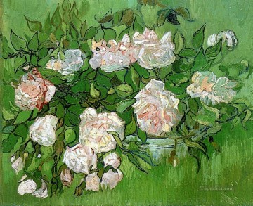 Still Life Pink Roses Vincent van Gogh Impressionism Flowers Oil Paintings