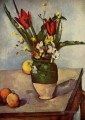 Still Life Tulips and apples Paul Cezanne Impressionism Flowers