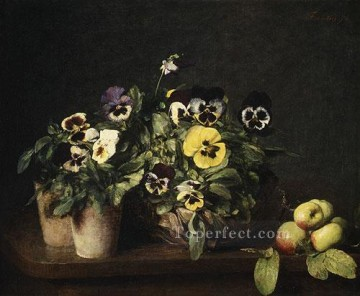 Still Life with Pansies 1874 flower painter Henri Fantin Latour Oil Paintings