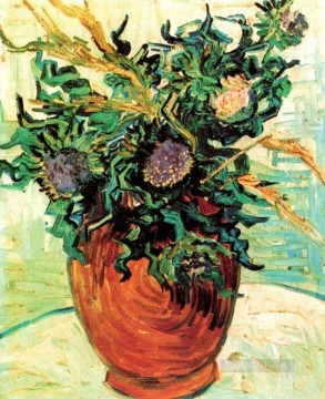 Still Life with Thistles Vincent van Gogh Impressionism Flowers Oil Paintings
