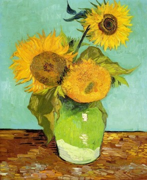 sunflowers sunflower Painting - Sunflowers Vincent van Gogh Impressionism Flowers