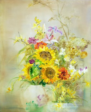 Flowers Painting - The Code of Beauty impressionism flowers