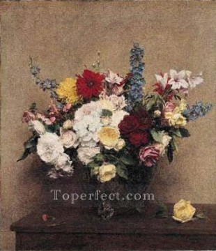 The Rosy Wealth of June flower painter Henri Fantin Latour Oil Paintings