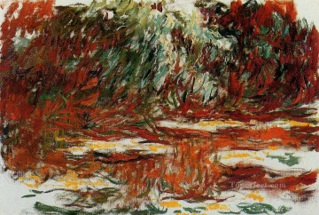 Impressionism Flowers Painting - The Water Lily Pond 1919 Claude Monet Impressionism Flowers