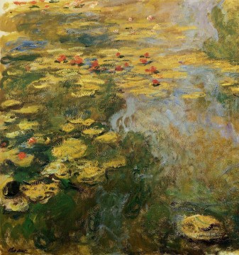 left Canvas - The Water Lily Pond left side Claude Monet Impressionism Flowers