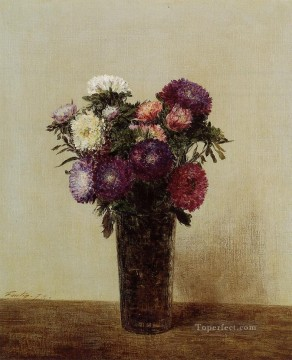Queens Canvas - Vase of Flowers Queens Daisies flower painter Henri Fantin Latour