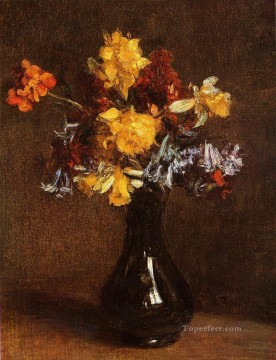 Vase of Flowers flower painter Henri Fantin Latour Oil Paintings