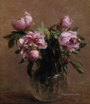 Vase of Peonies flower painter Henri Fantin Latour Oil Paintings