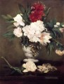 Vase of Peonies on a Small Pedestal Eduard Manet Impressionism Flowers