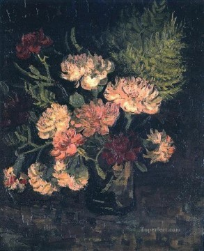 Carnations Art - Vase with Carnations 1 Vincent van Gogh Impressionism Flowers