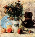Vase with Flowers Coffeepot and Fruit Vincent van Gogh
