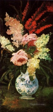 Flowers Painting - Vase with Gladioli and Lilac Vincent van Gogh Impressionism Flowers