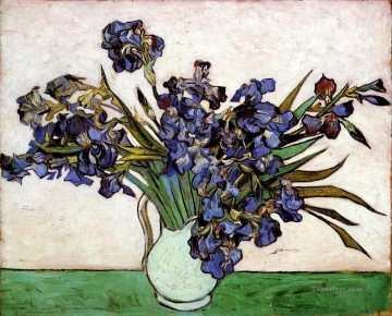 Vase with Irises Vincent van Gogh Impressionism Flowers Oil Paintings