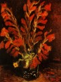 Vase with Red Gladioli Vincent van Gogh Impressionism Flowers