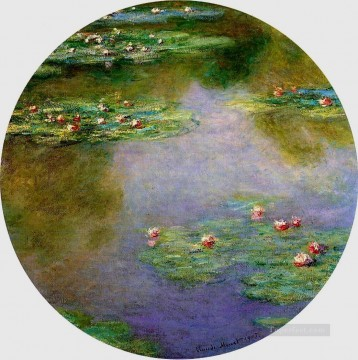 Water Lilies 1907 Claude Monet Impressionism Flowers Oil Paintings