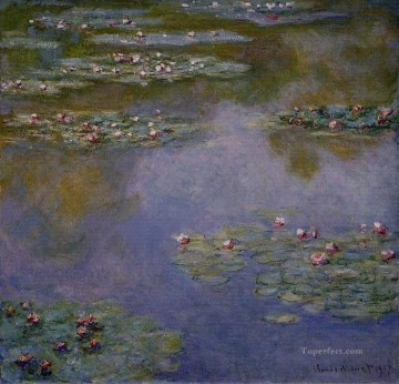 Water Lilies III Claude Monet Impressionism Flowers Oil Paintings
