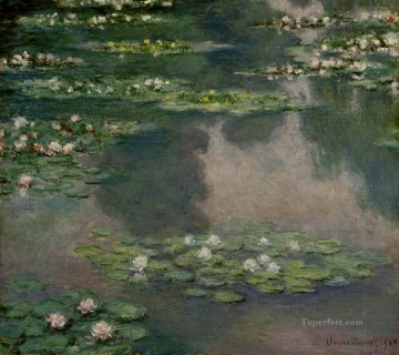 Water Lilies XII Claude Monet Impressionism Flowers Oil Paintings