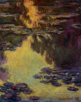 Water Lilies XIV Claude Monet Impressionism Flowers Oil Paintings