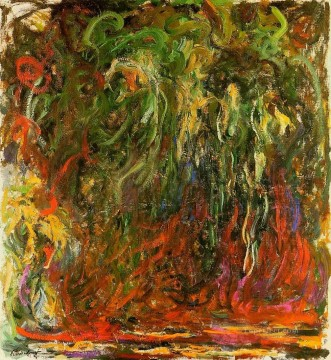 Impressionism Flowers Painting - Weeping Willow Giverny Claude Monet Impressionism Flowers