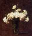 White Carnations flower painter Henri Fantin Latour
